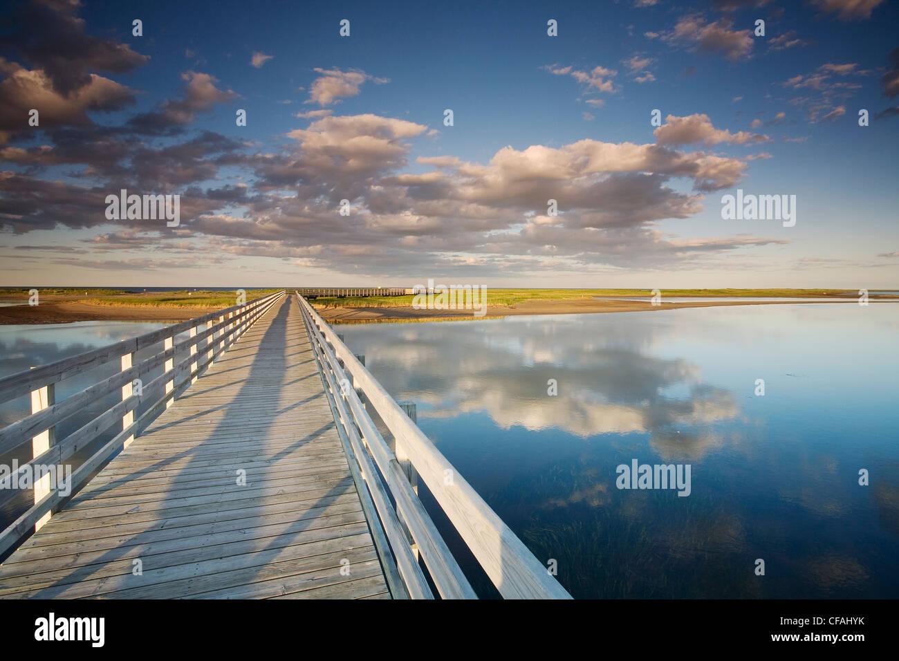 The Kellys beach boardwalk across lagoon beaches Stock Photo