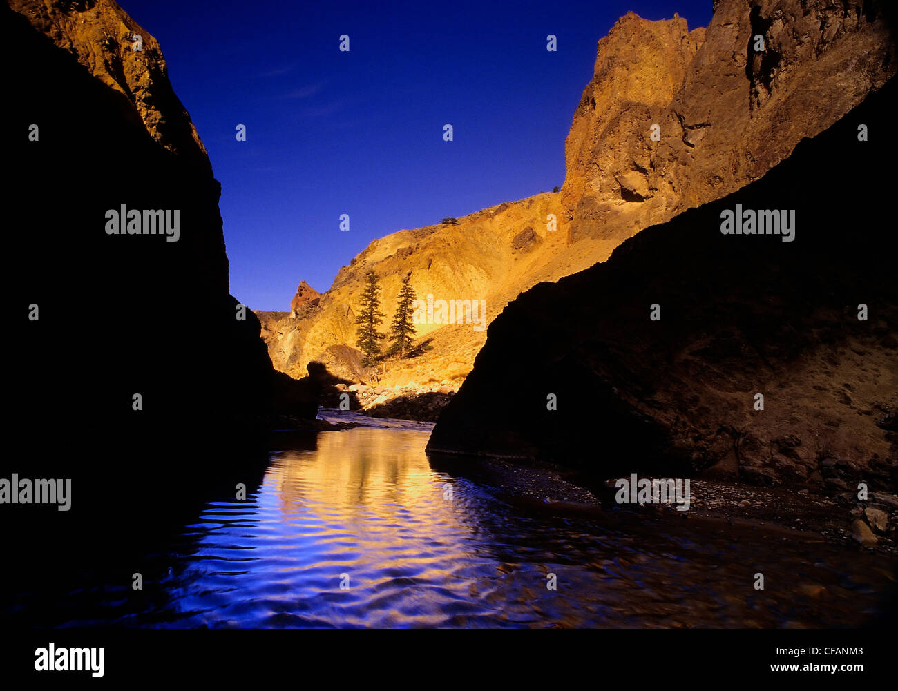 Churn Creek Protected Area at sunrise, British Columbia, Canada - Stock Image