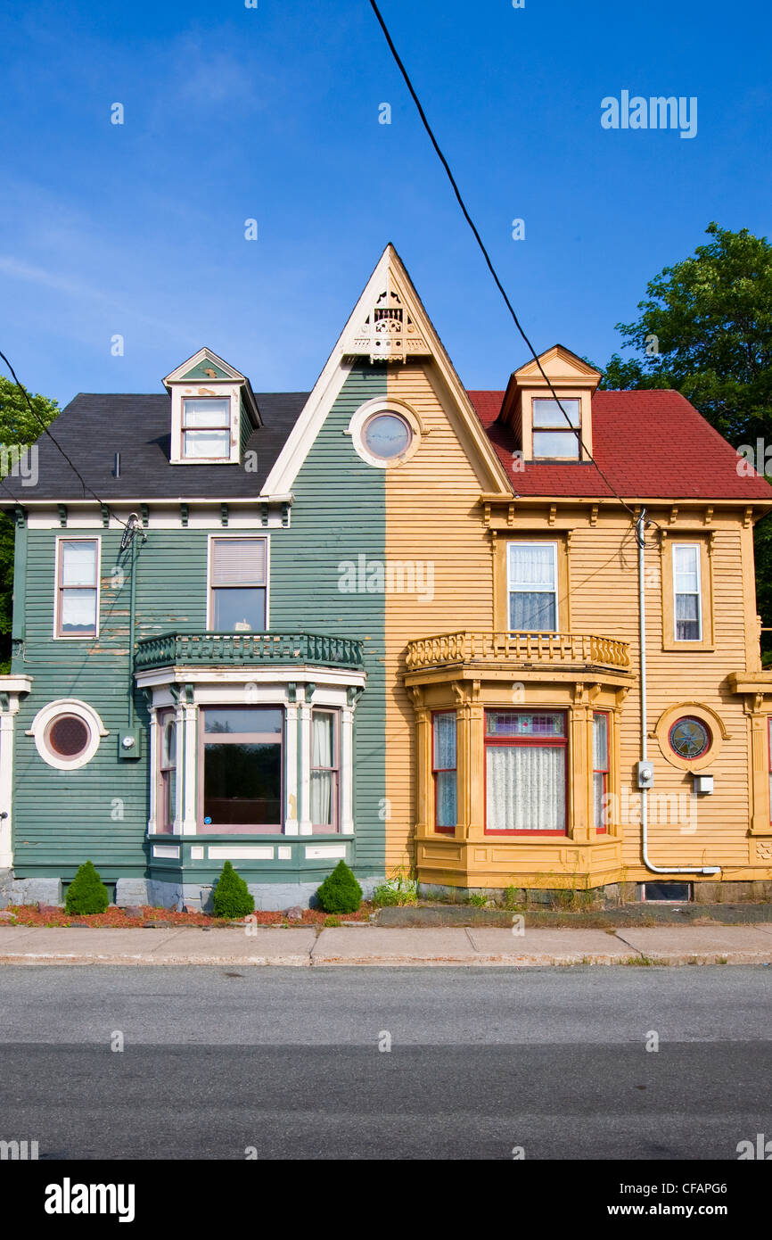 Duplex on the south side of St. John's Harbour, Newfoundland and Labrador, Canada. - Stock Image