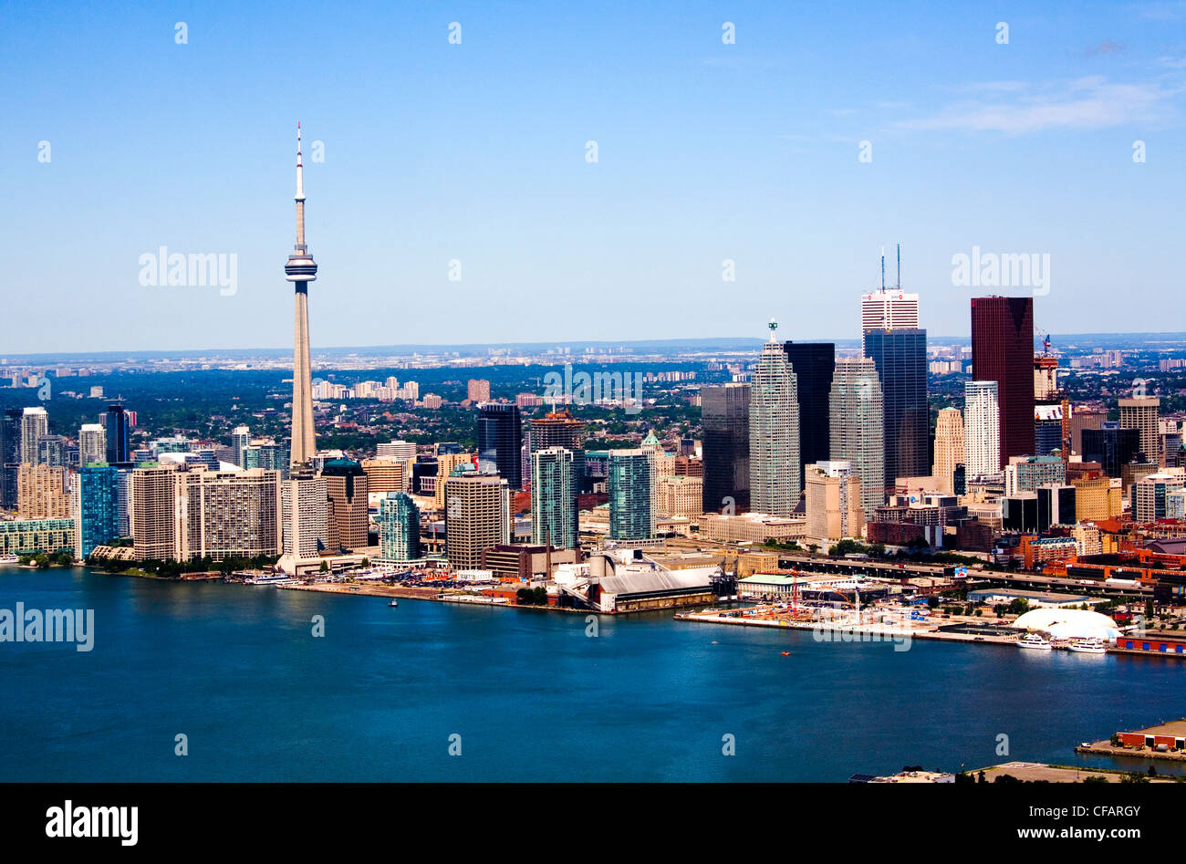 Toronto skyline with CN Tower, Toronto, Ontario, Canada - Stock Image