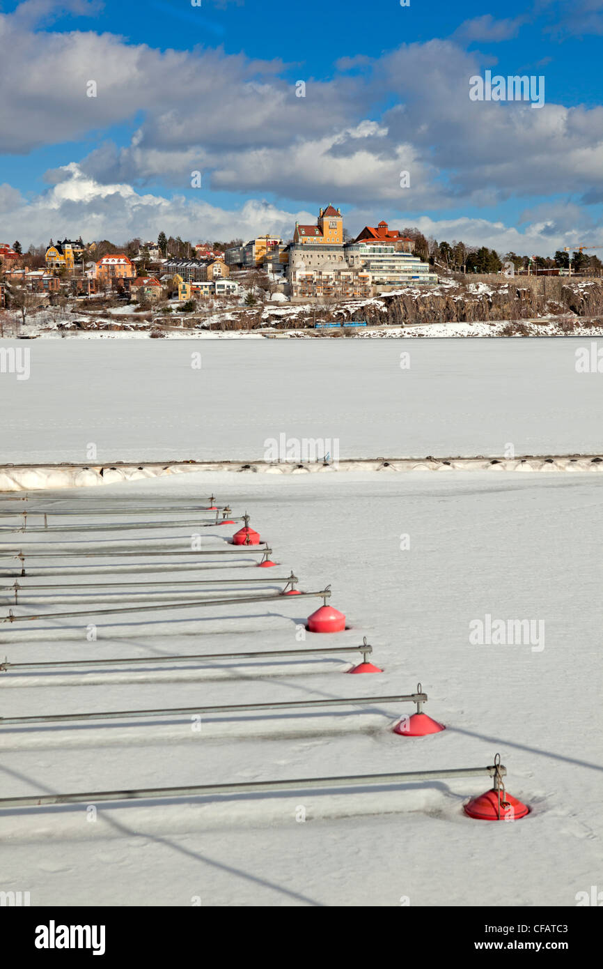 View of Lidingö seen from Ropsten, Stockholm (Sweden) Stock Photo