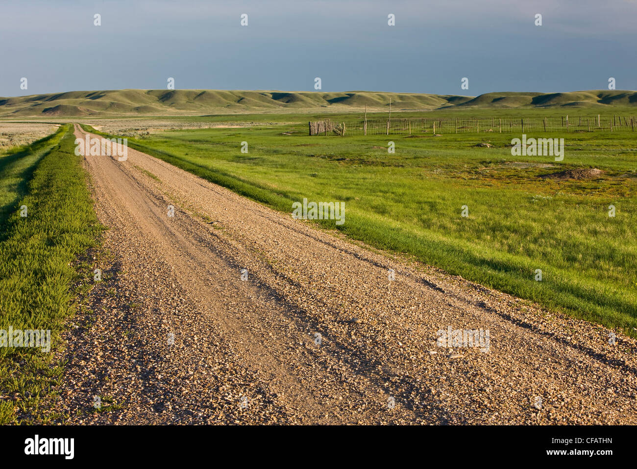 Frenchman River Valley Ecotour Route through the West Block of Grasslands National Park, Saskatchewan, Canada - Stock Image