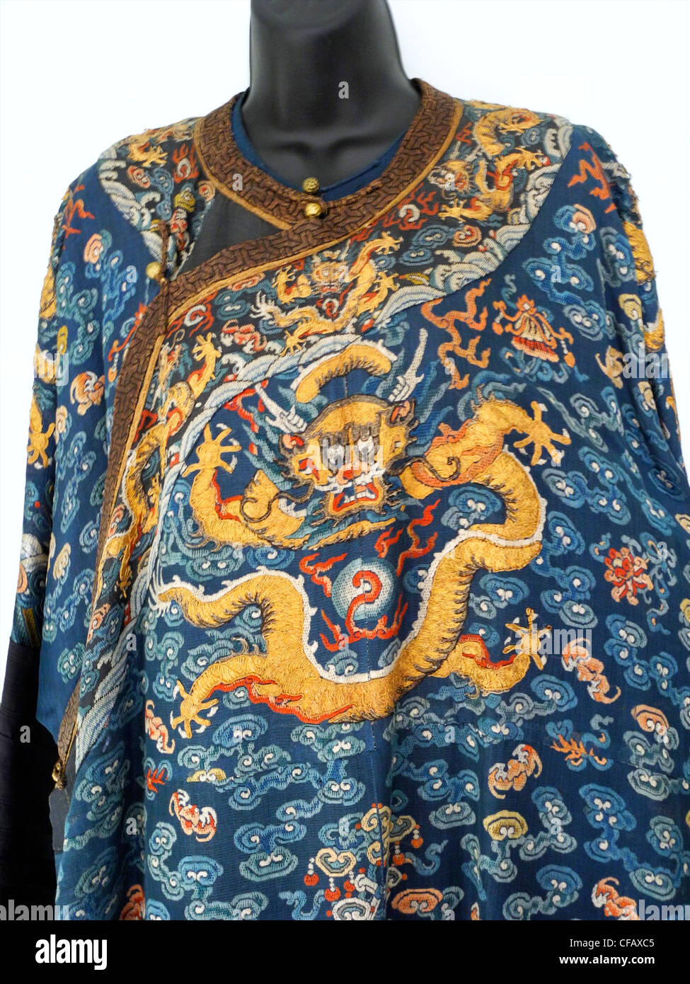 A Chinese Dragon Robe From The Qing Dynasty 19th Century Woven And Stock Photo Alamy