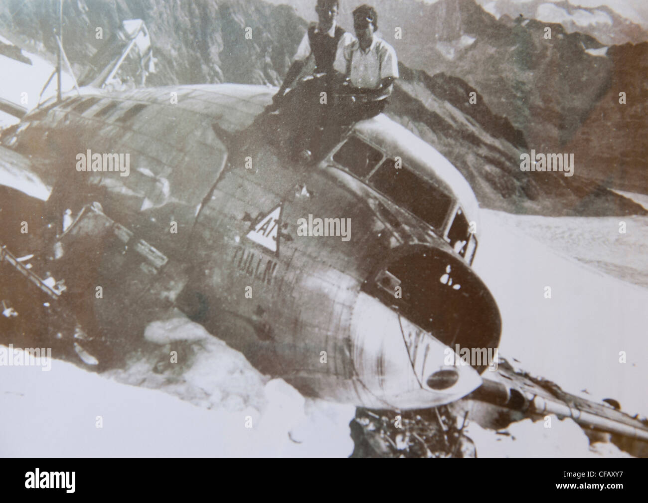 Switzerland, canton Bern, Bernese Oberland, Urbachtal, SAC, Dakota, in 1946, fall, plane crash, emergency landing, - Stock Image