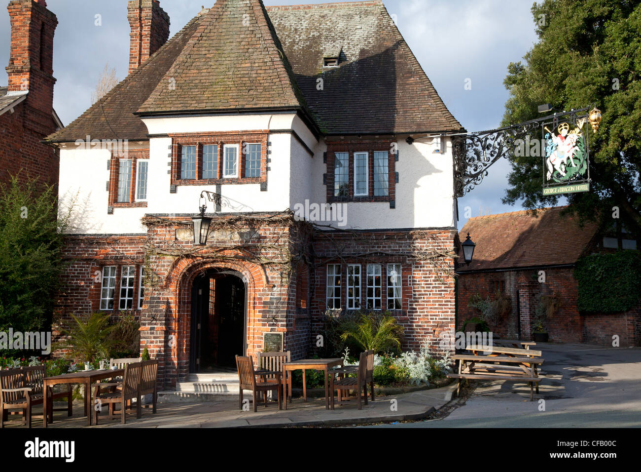 The George and Dragon pub, Great Budworth, Cheshire - Stock Image