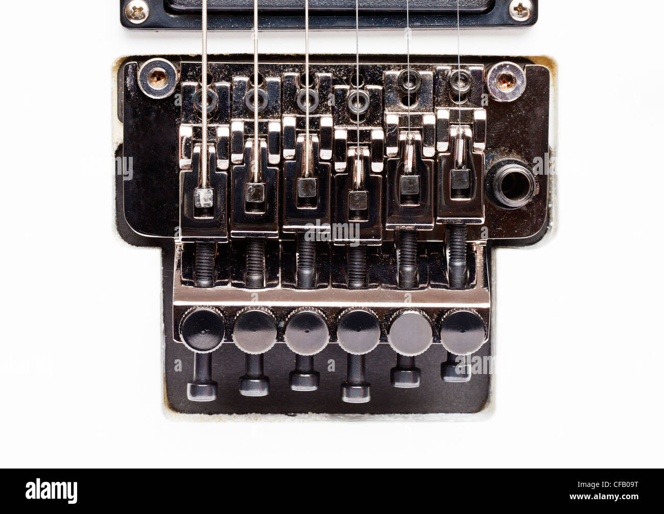 Floyd Rose electric guitar tremelo system - Stock Image