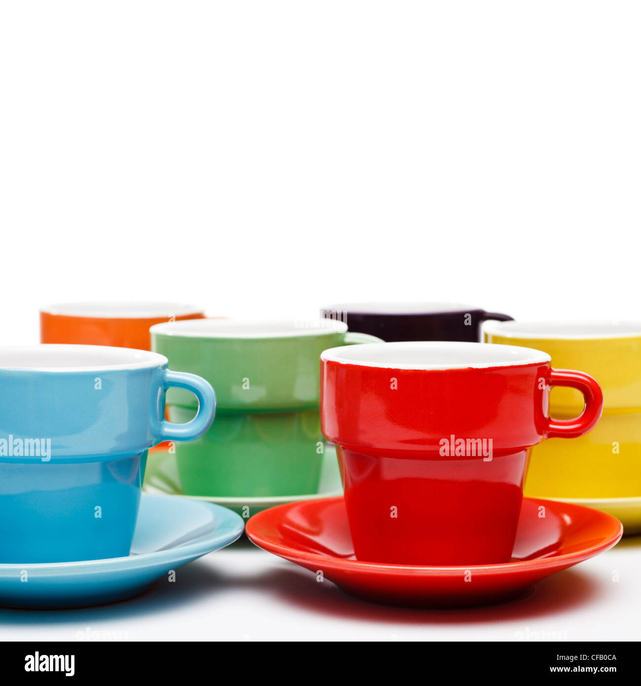Coffee cups - Stock Image