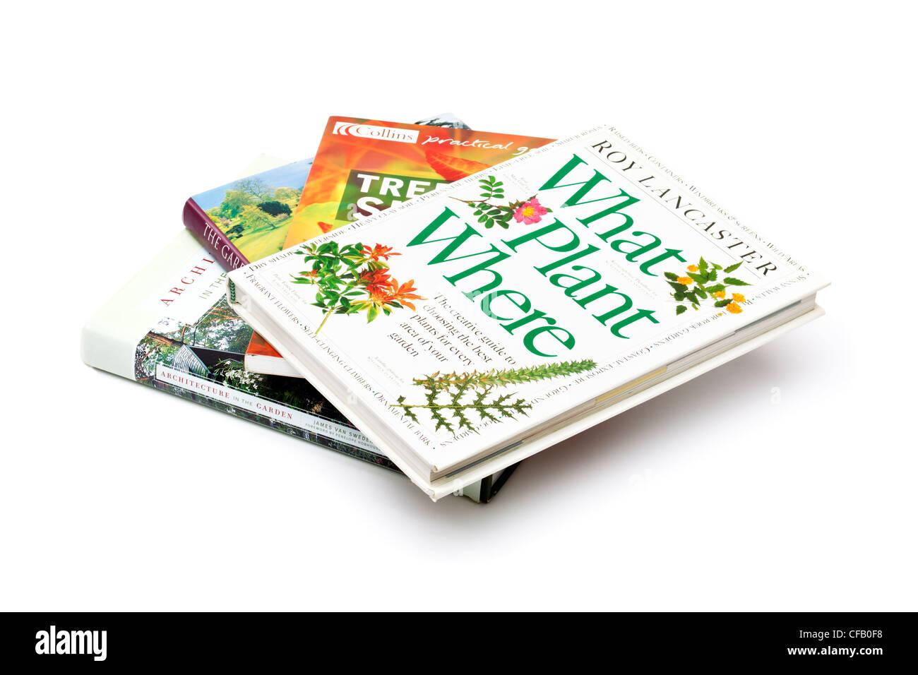 Gardening books - Stock Image