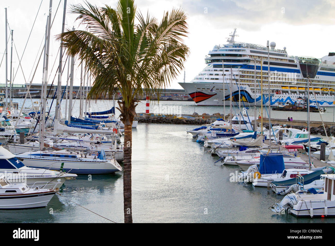 Marina in Funchal, Madeira, portugal - Stock Image