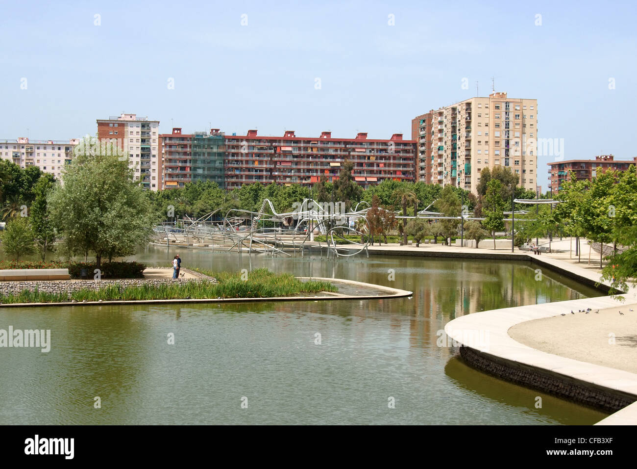 Parc de Diagonal Mar, Barcelona Stock Photo