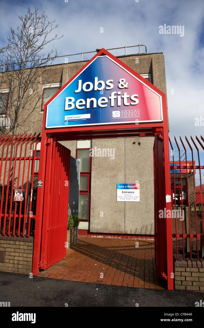 jobs and benefits office falls road west Belfast Northern Ireland UK - Stock Image
