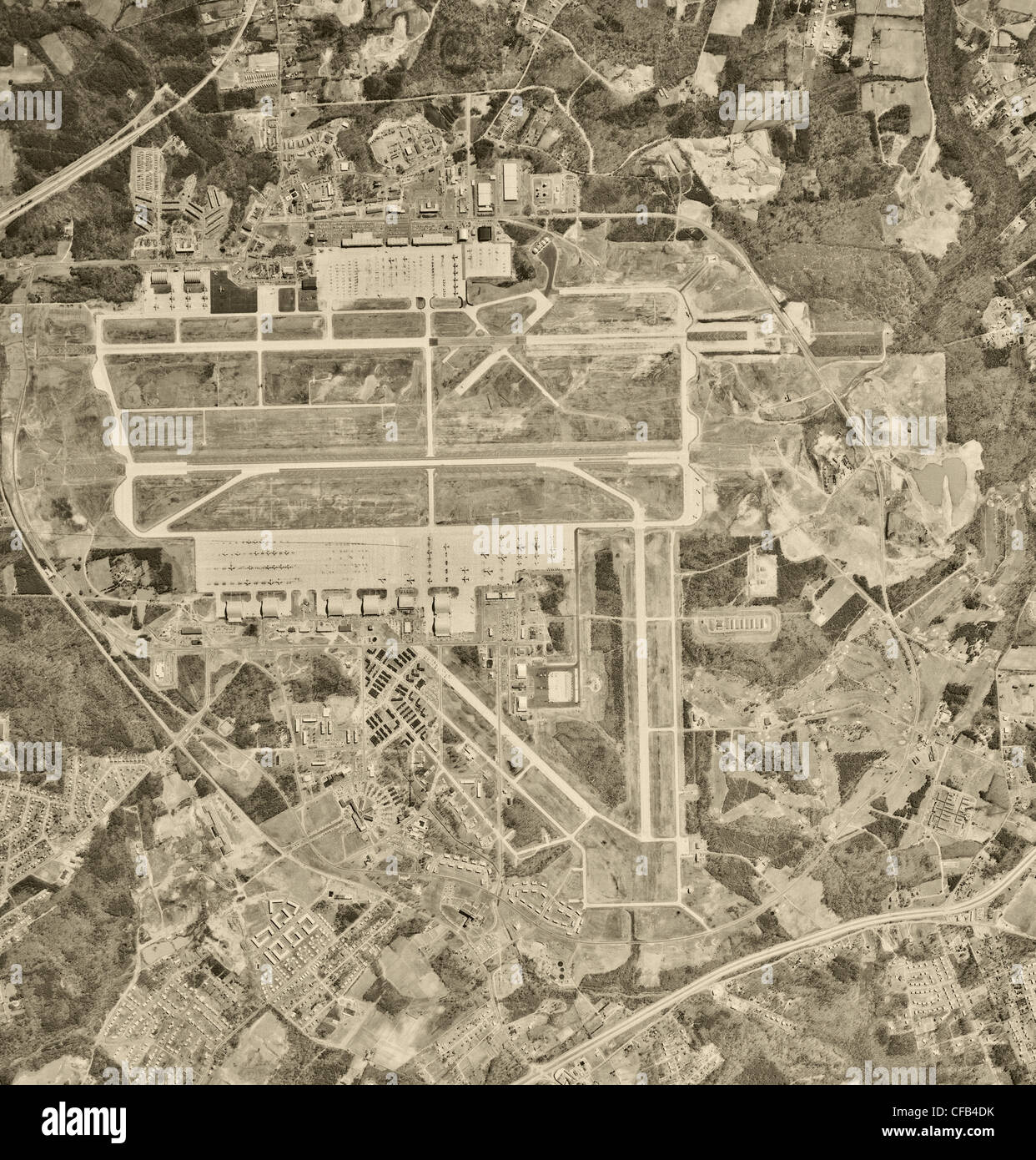 aerial photo map of Andrews Air Force Base, Prince George's county, Maryland 1963 - Stock Image