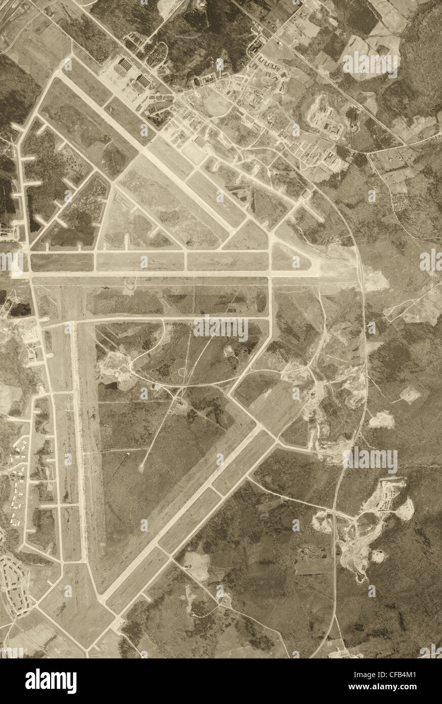 aerial photo map of Andrews Air Force Base, Prince George's county, Maryland, 1949 - Stock Image