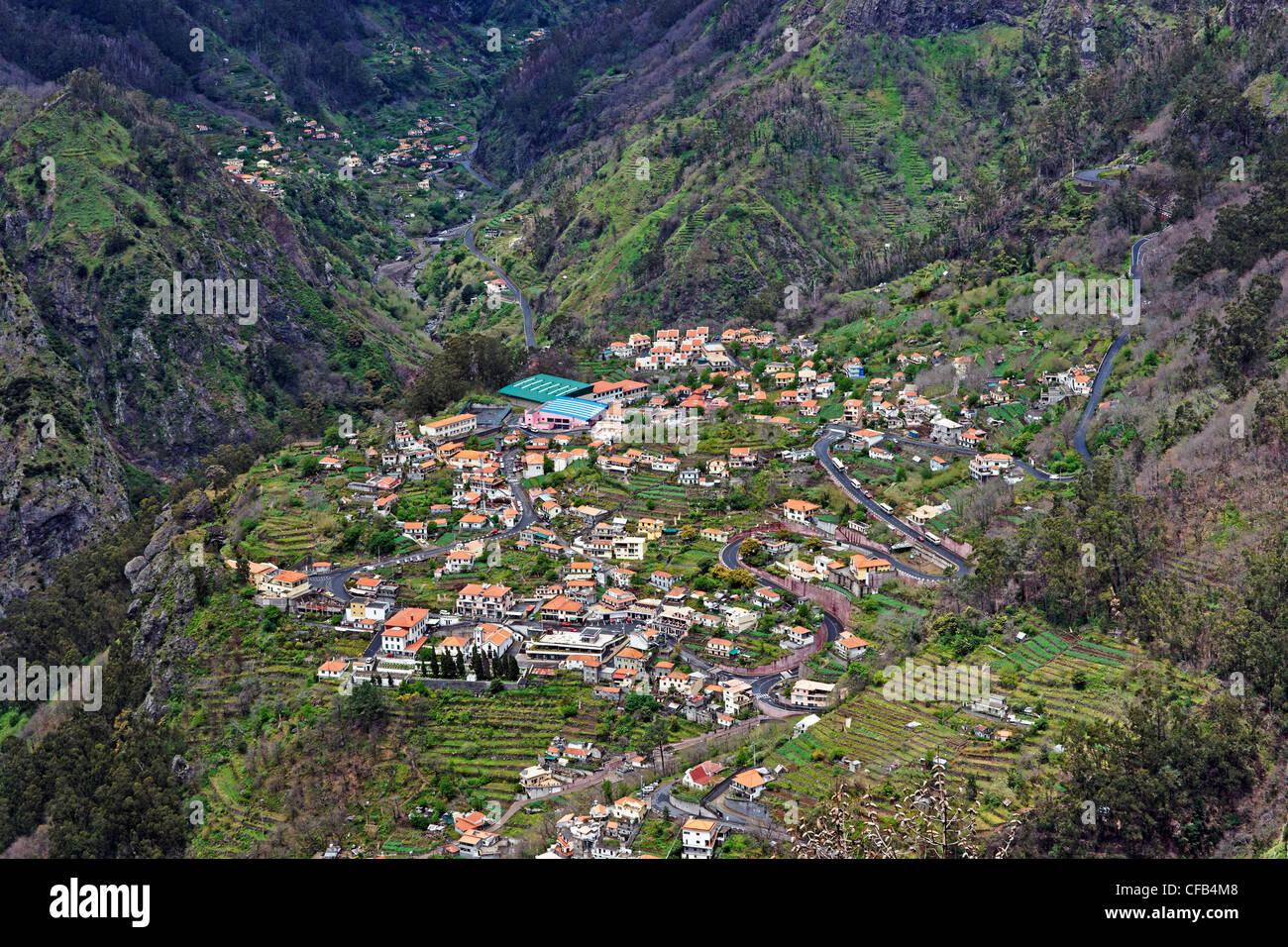 Europe, Portugal, Republica Portuguesa, Madeira, Curral the Freiras, Eira do Serrado, Curral the Freiras, nun valley, - Stock Image