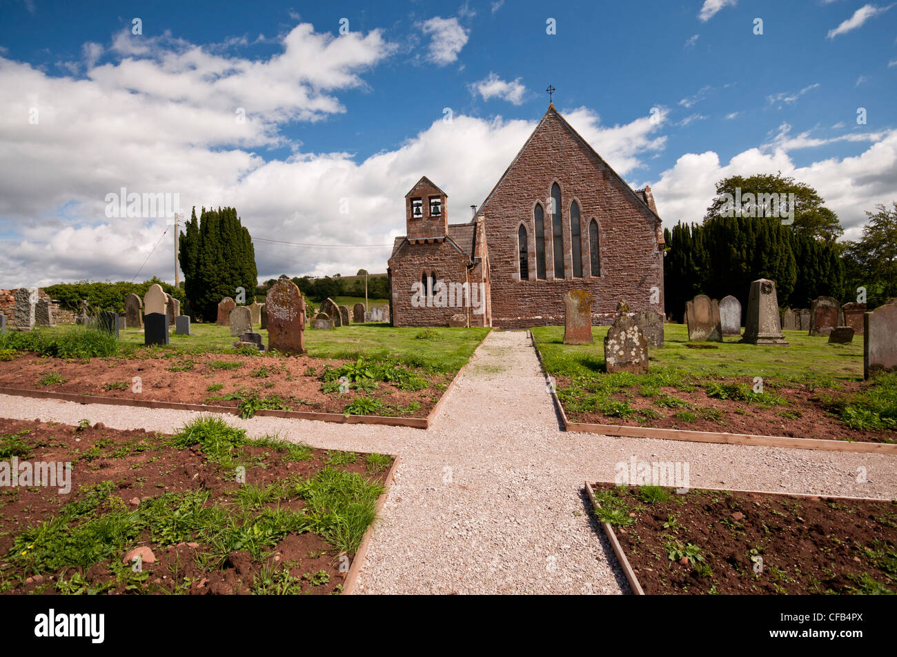 St Michaels Church, Ainstable in the Eden Valley, Cumbria - Stock Image