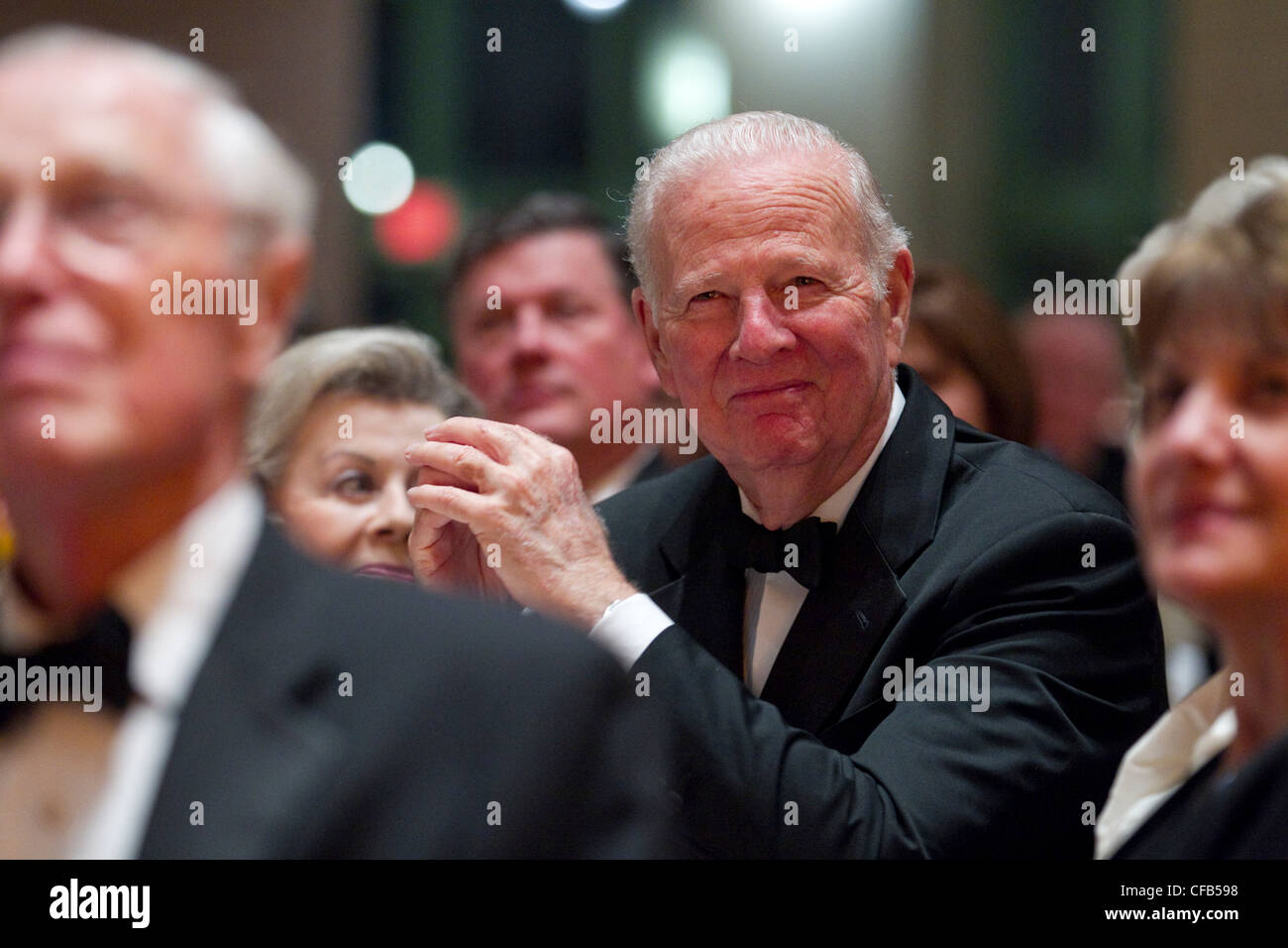 James A. Baker III of Houston diplomat & statesman who served under three US presidents honored as legendary - Stock Image