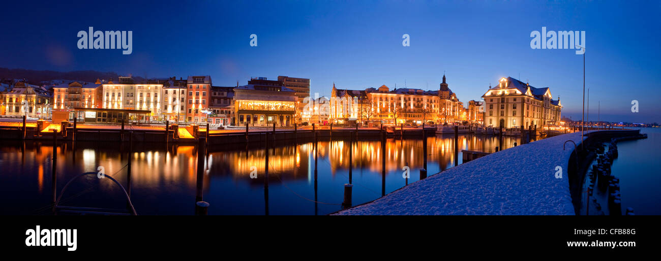 Ship, boat, ships, boats, reflection, town, city, Christmas, Advent, canton St. Gallen, St. Gall, Switzerland, Europe, - Stock Image