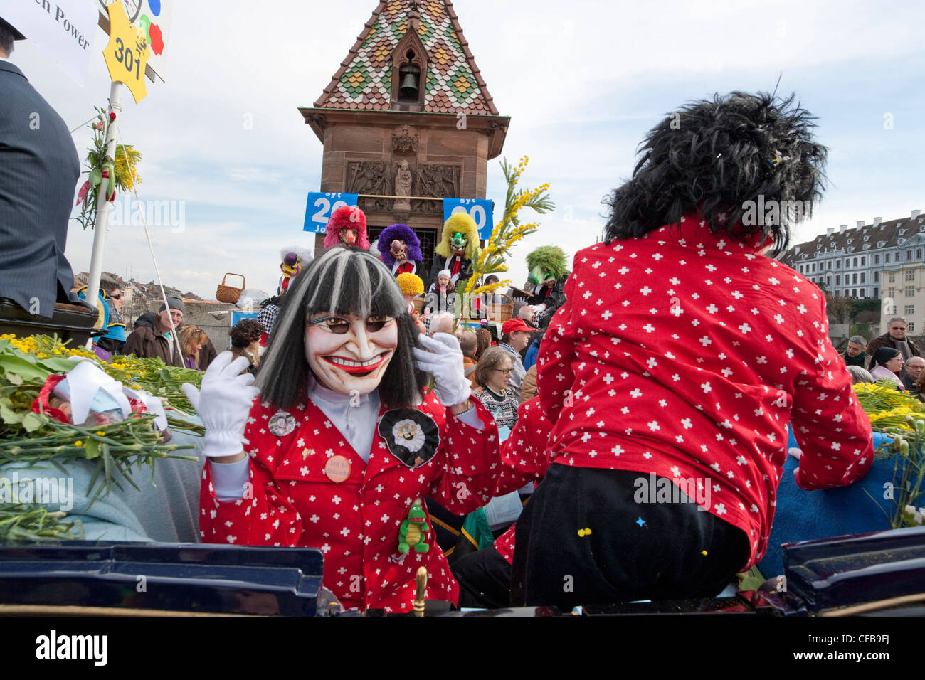 Carnival, carnival, town, city, event, canton, Basel, Switzerland, Europe, town, city, Basel carnival, masks, Calmy Stock Photo
