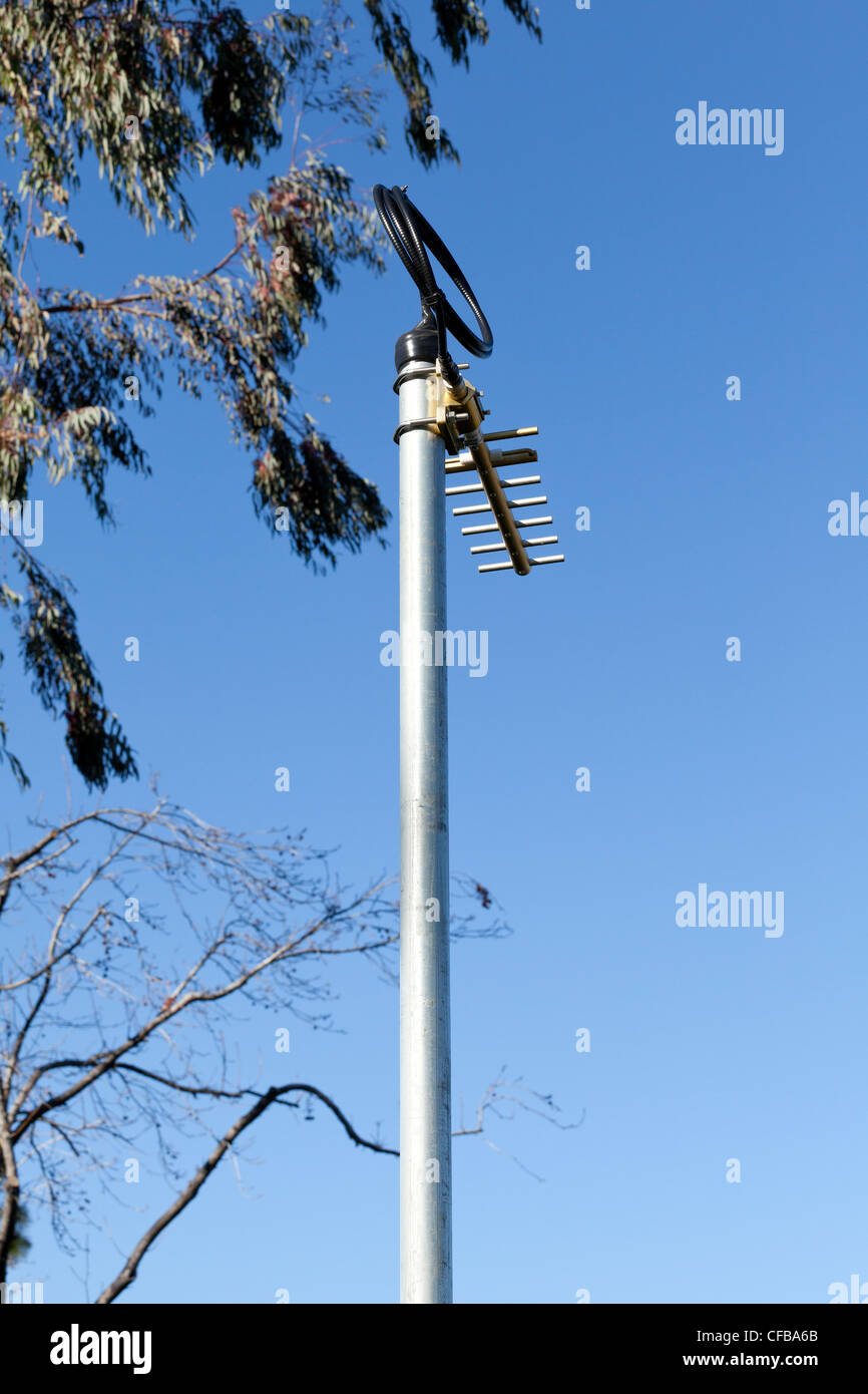 Air Sensor device monitors the air near busy 880 Freeway in Milpitas, California - Stock Image