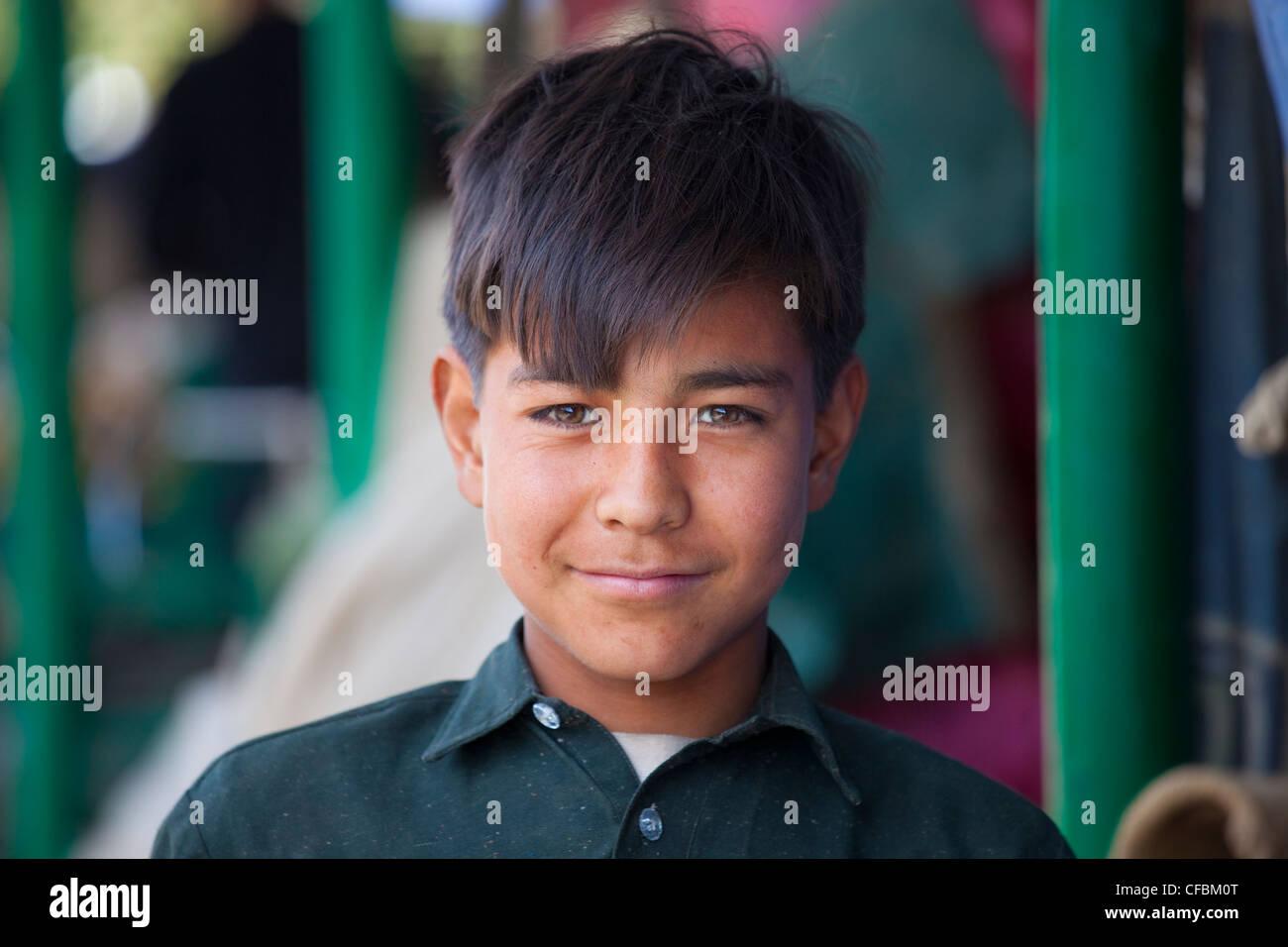 Pakistani boy in Islamabad, Pakistan - Stock Image