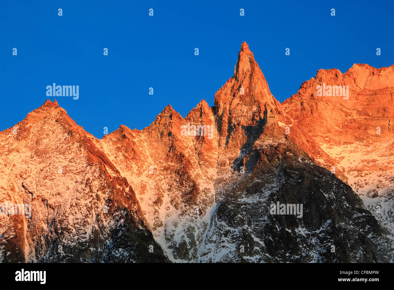 Aiguille, mountain, Aiguille de la Tsa, afterglow, Arolla, Arolla valley, mountain panorama, Eringer valley, peak, Stock Photo