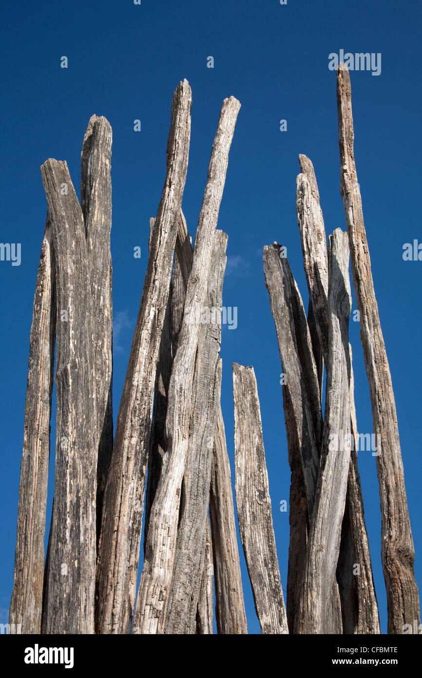 old piles and sky - Stock Image