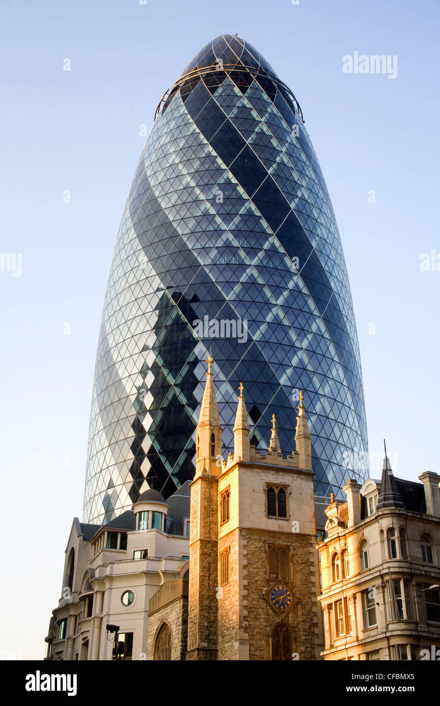 London - Swiss re tower - Stock Image