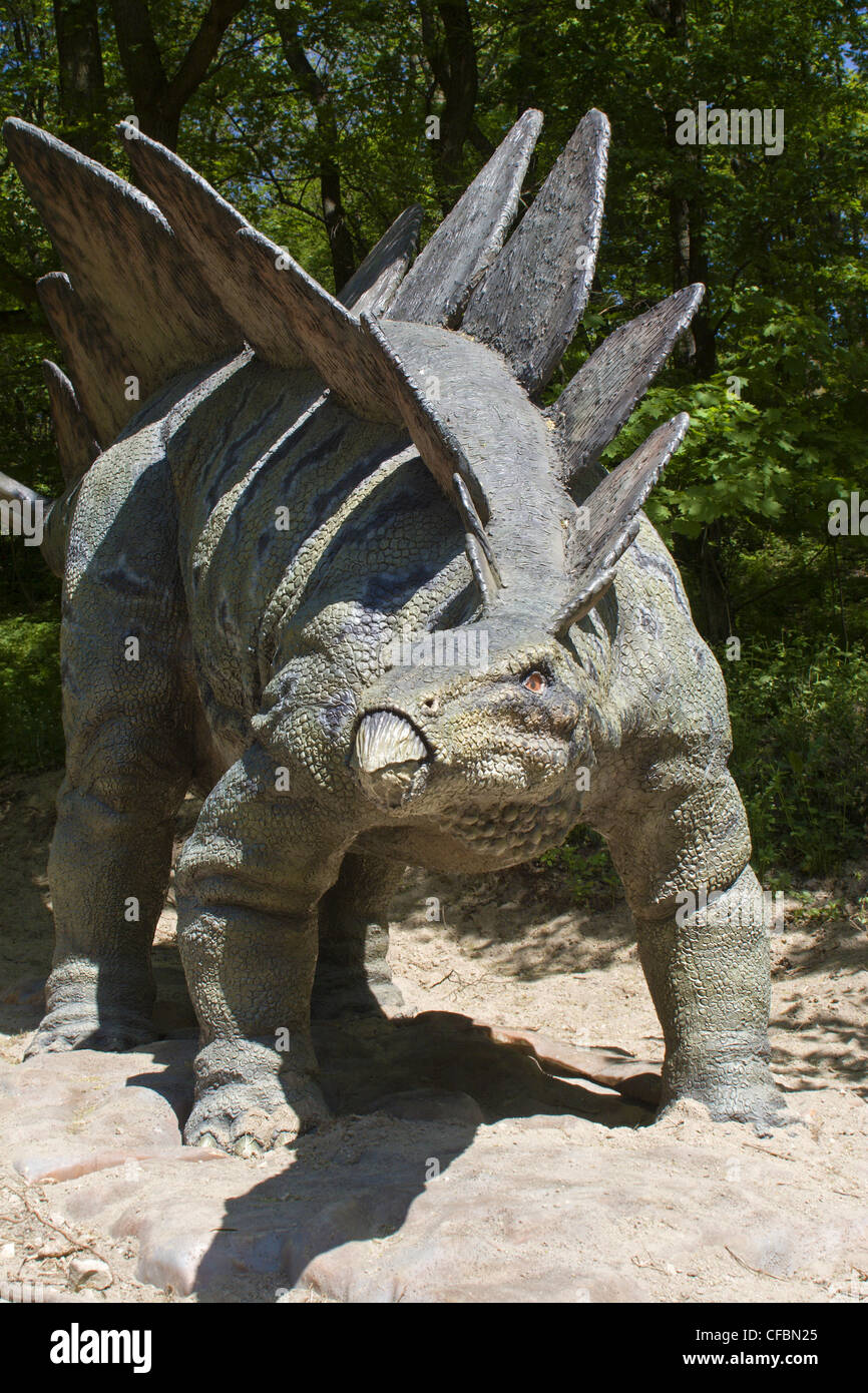 Stegosaurs from Bratislava zoo - Stock Image