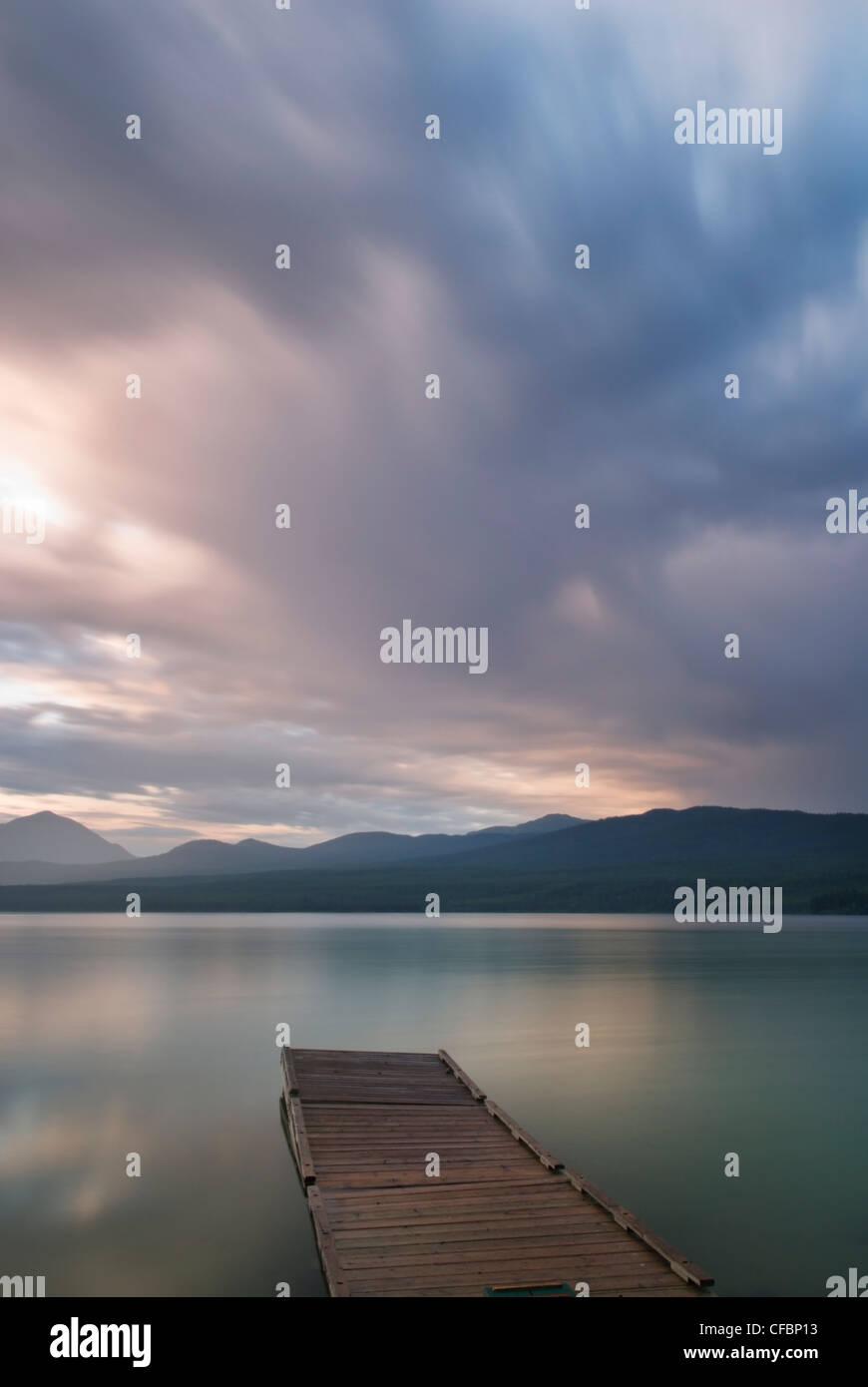 Dock on Squanga Lake, Yukon Territory, Canada - Stock Image