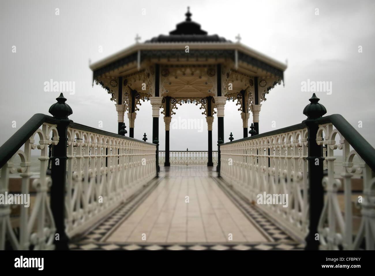 Brighton bandstand, Brighton, East Sussex, England, UK, January, 2012 - Stock Image