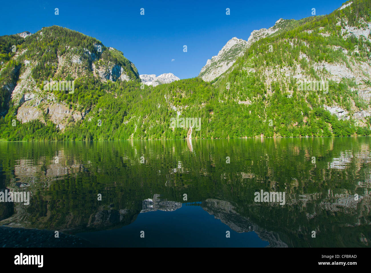 Europe, Germany, Bavaria, Upper Bavaria, Berchtesgaden country, Berchtesgaden, Alps, mountains, cliff, panorama, - Stock Image