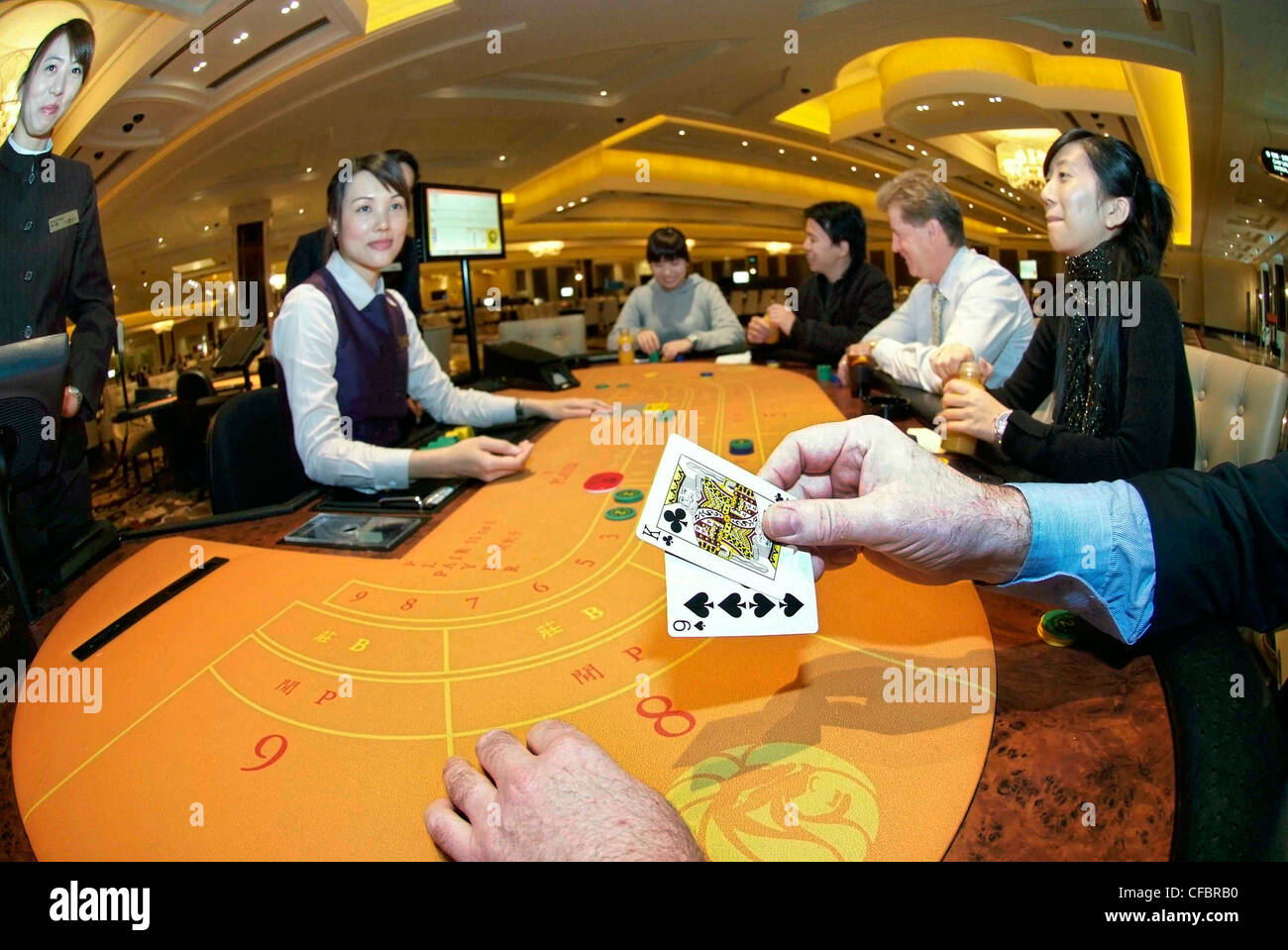 CHINA MACAU SAR MGM Grand Casino - Gambling. Gaming table ** taken with the  approval of MGM Management** Stock Photo - Alamy