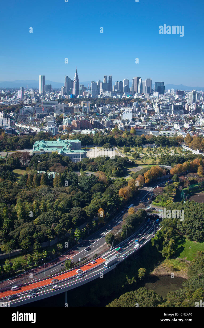 Japan, Asia, Tokyo, city, Shinjuku, District, Shuto, Expressway, State, Guest House, architecture, big, buildings, Stock Photo