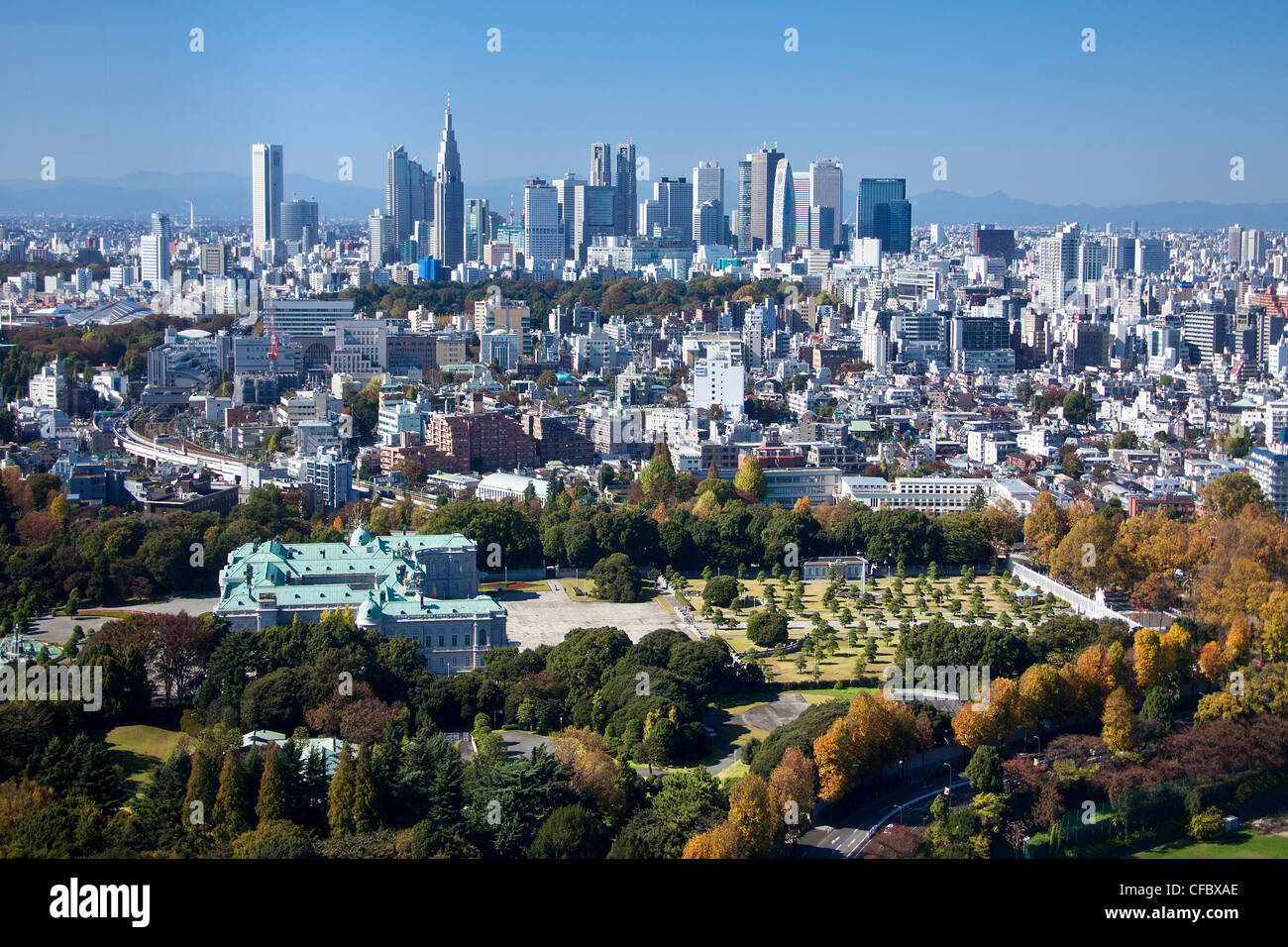 Japan, Asia, Tokyo, city, Shinjuku, District, State, Guest House, architecture, big, buildings, city, expressway, - Stock Image