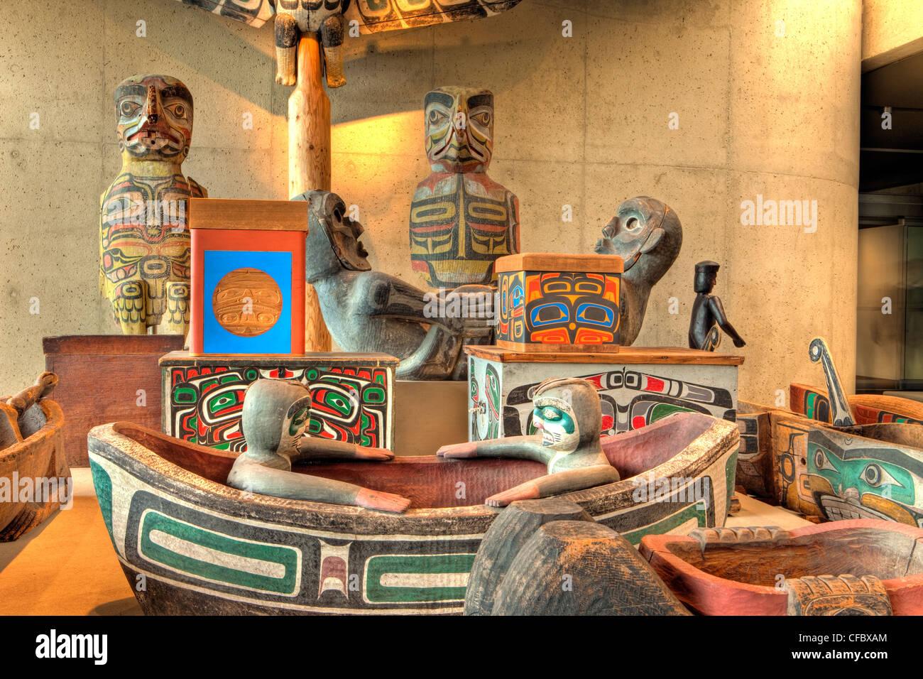 Haida Art Gallery, Museum of Anthropology, Vancouver, British Columbia, Canada - Stock Image