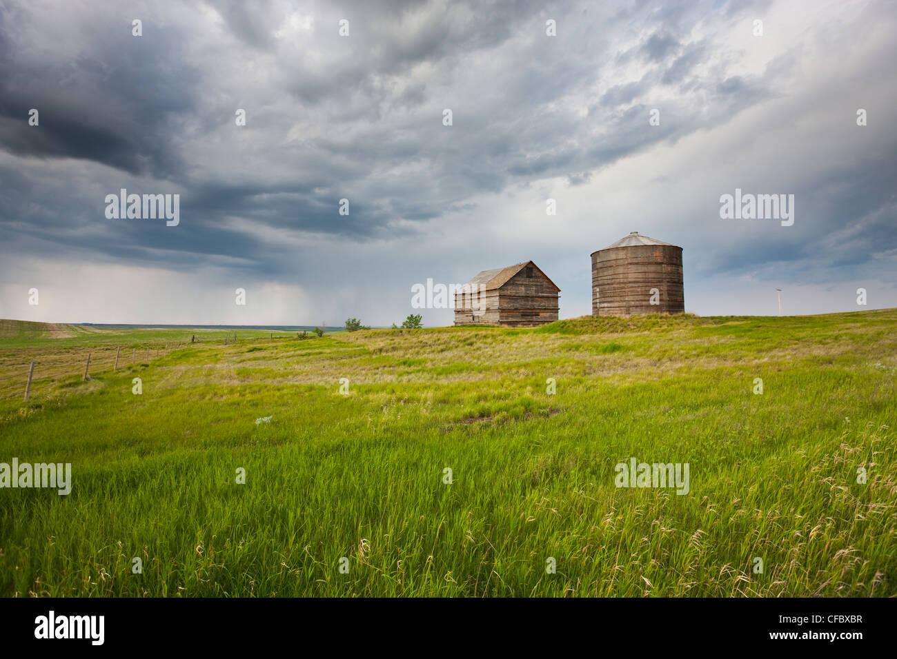 Storm brewing near Morse, Saskatchewan, Canada. - Stock Image