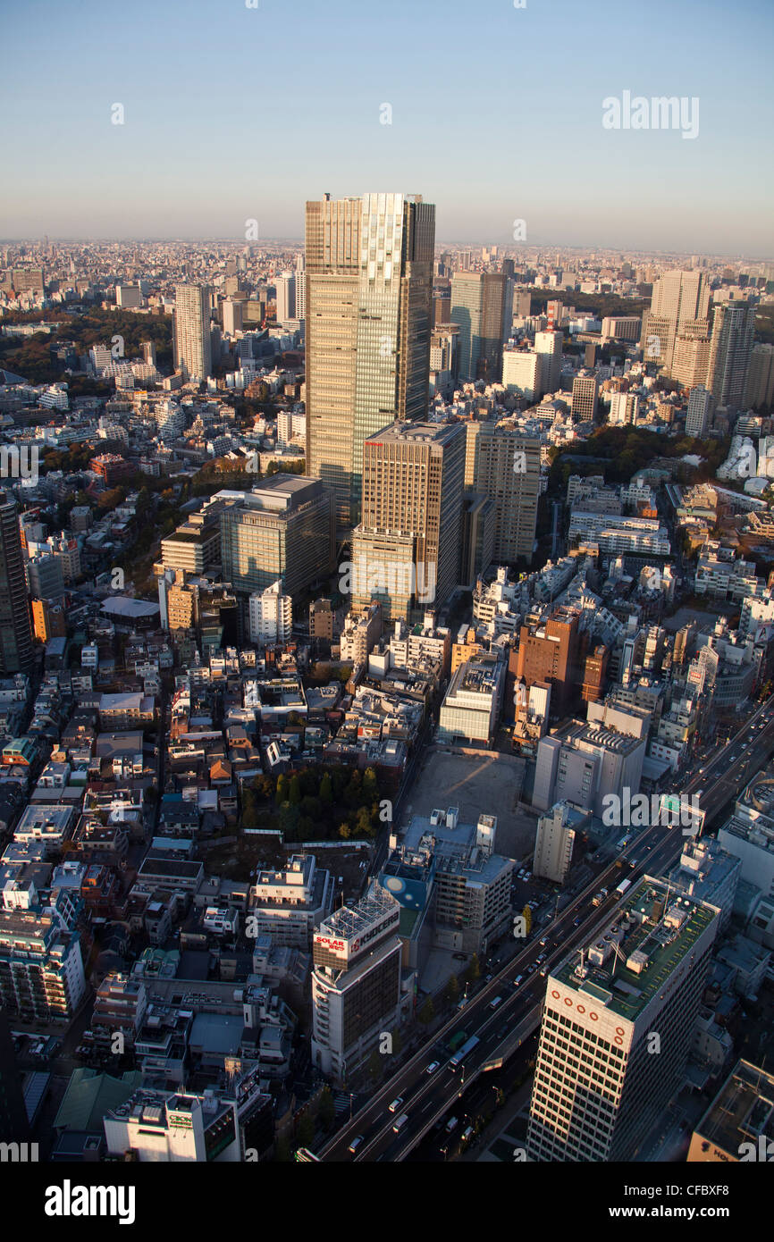 Japan, Asia, Tokyo, city, Tokyo Midtown, architecture, building, city, crowded, downtown, midtown, skyline, skyscraper, - Stock Image