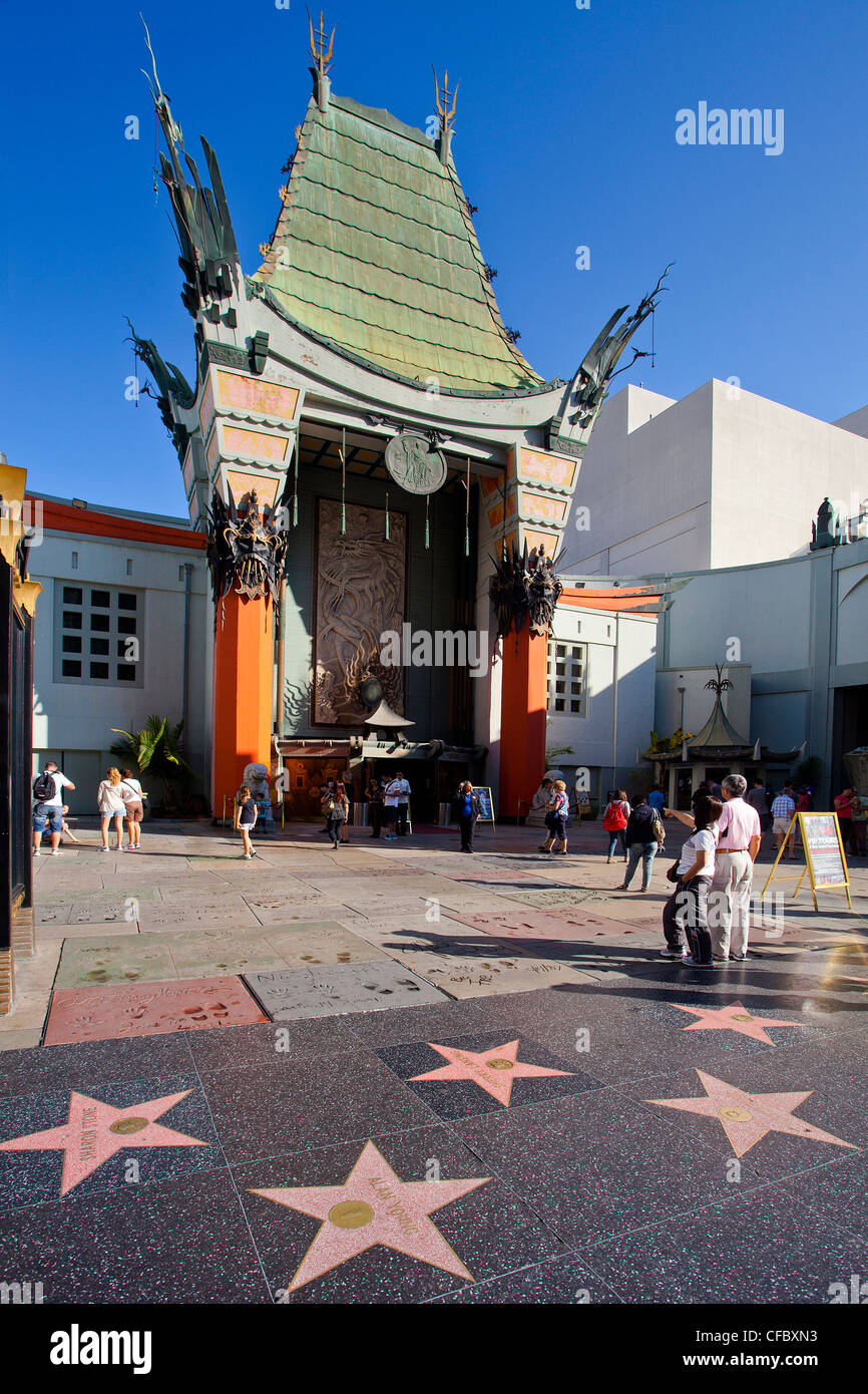 USA, United States, America, California, Los Angeles, City, Hollywood, Chinese Theater, Hollywood Boulevard, boulevard, - Stock Image