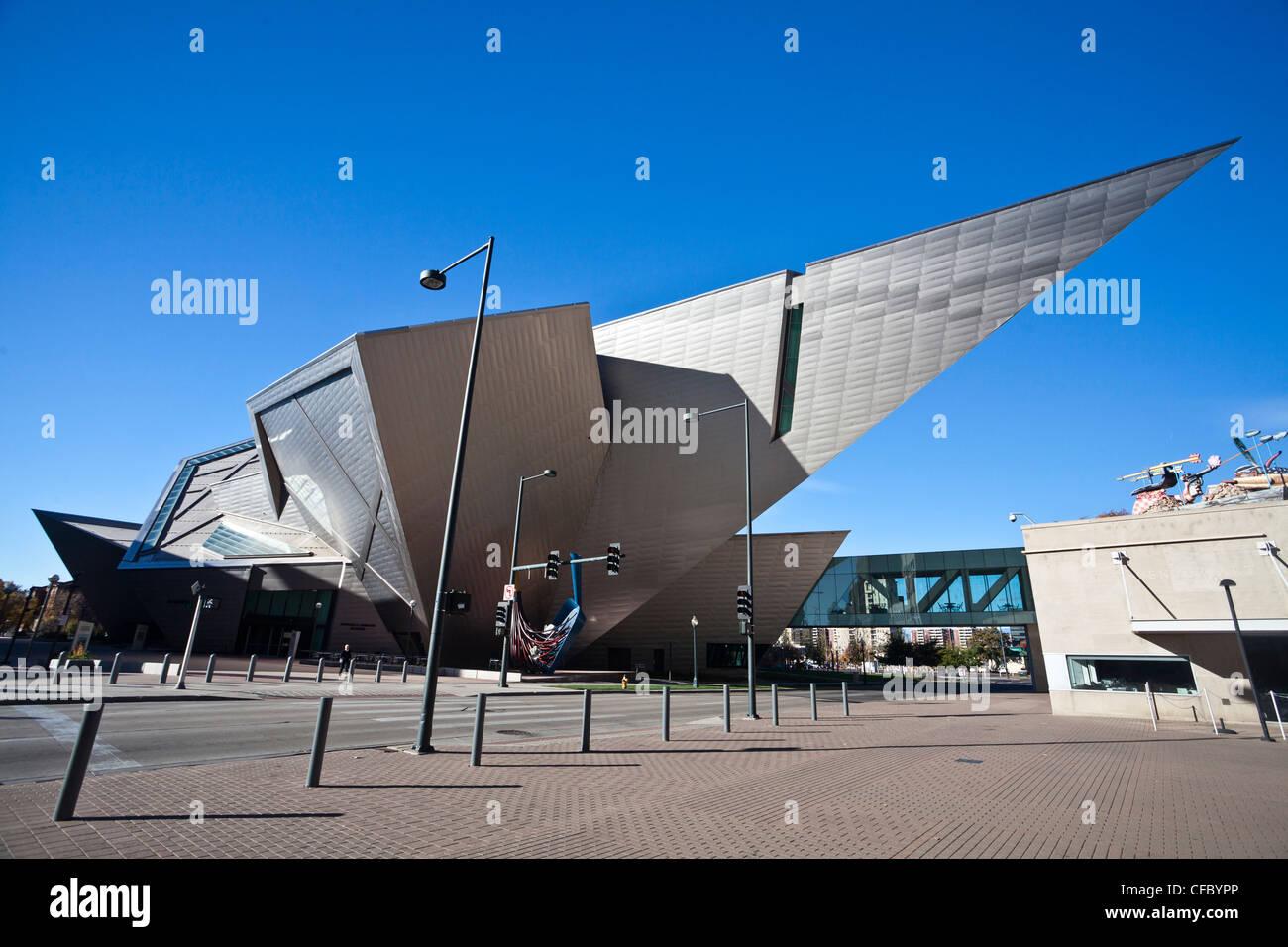 USA, United States, America, Colorado, Denver, City, Art Museum, building, Frederic Hamilton, architecture, art, - Stock Image