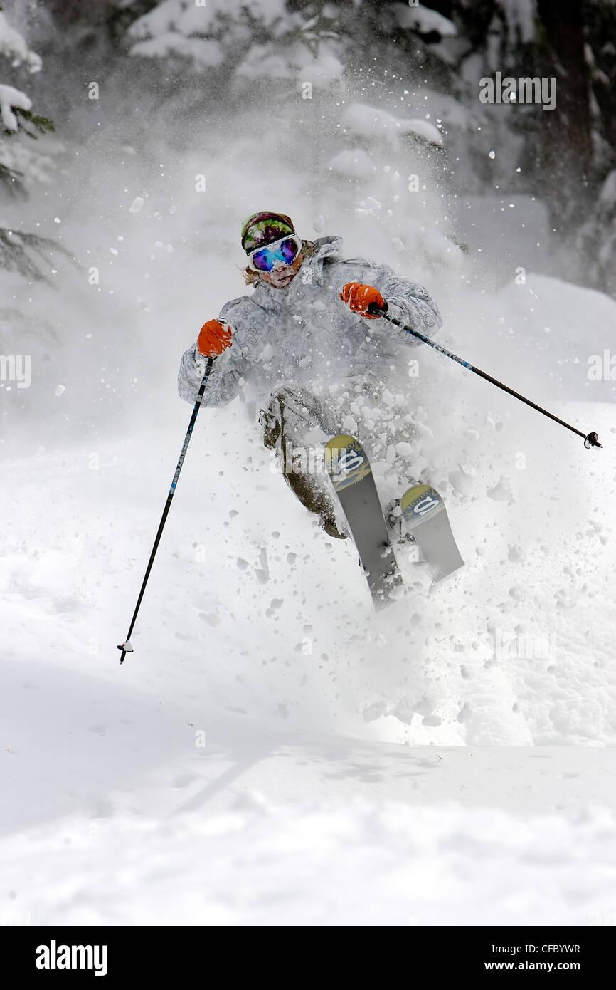 Skier, Whistler, BC, Canada - Stock Image