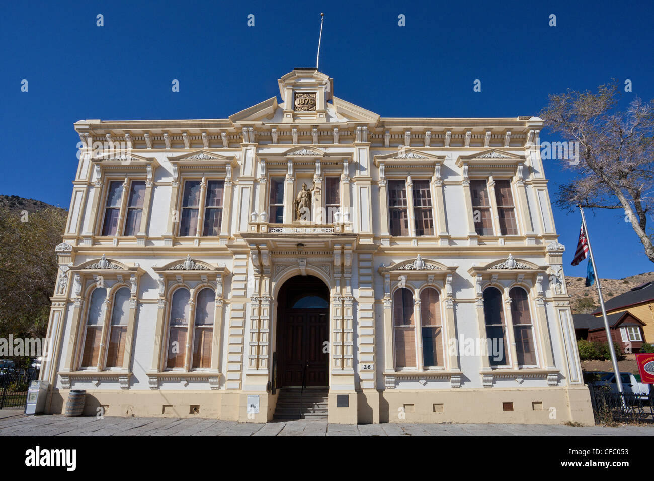 USA, United States, America, Nevada, Old Virginia City, Courthouse, attraction, building, gold rush, historic, justice, - Stock Image