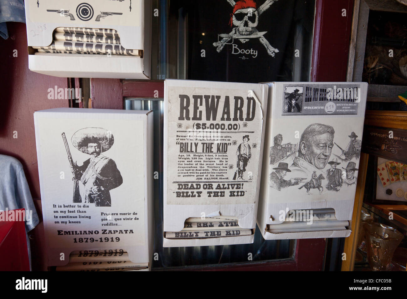 USA, United States, America, Nevada, Old Virginia City, Souvenirs shop, attraction, outlaws, gold rush, historic, - Stock Image