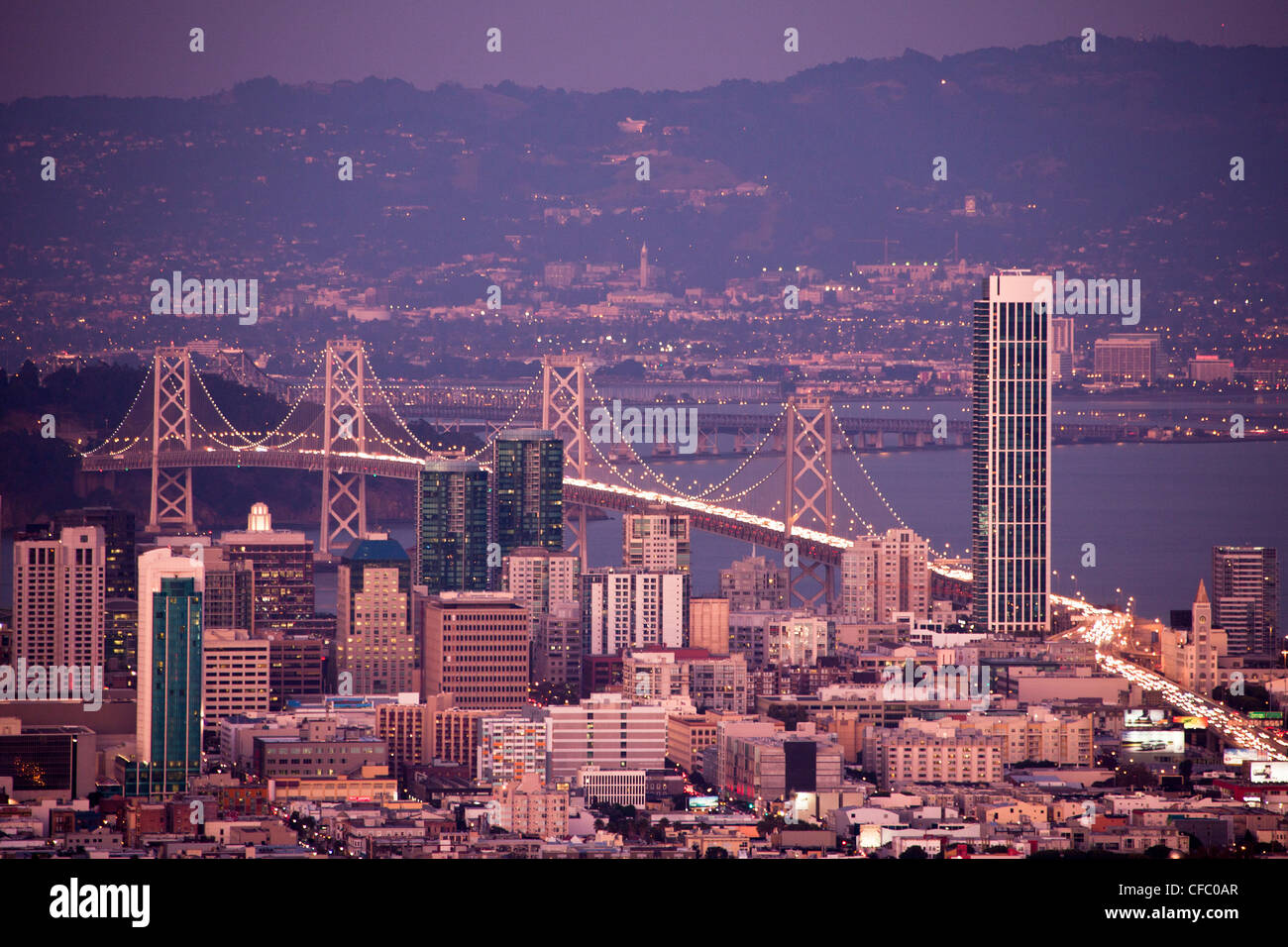 USA, United States, America, California, San Francisco, City, Downtown, Bay Bridge, architecture, bay, downtown, - Stock Image