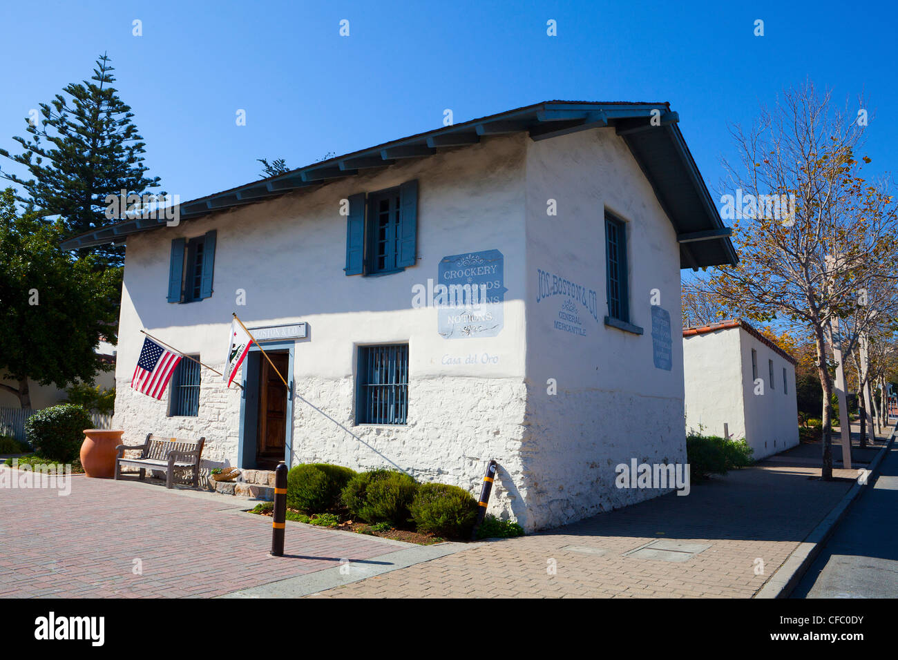 USA, United States, America, California, Monterey, City, Historical, Casa del Oro, Gold House, administration, colonial, - Stock Image