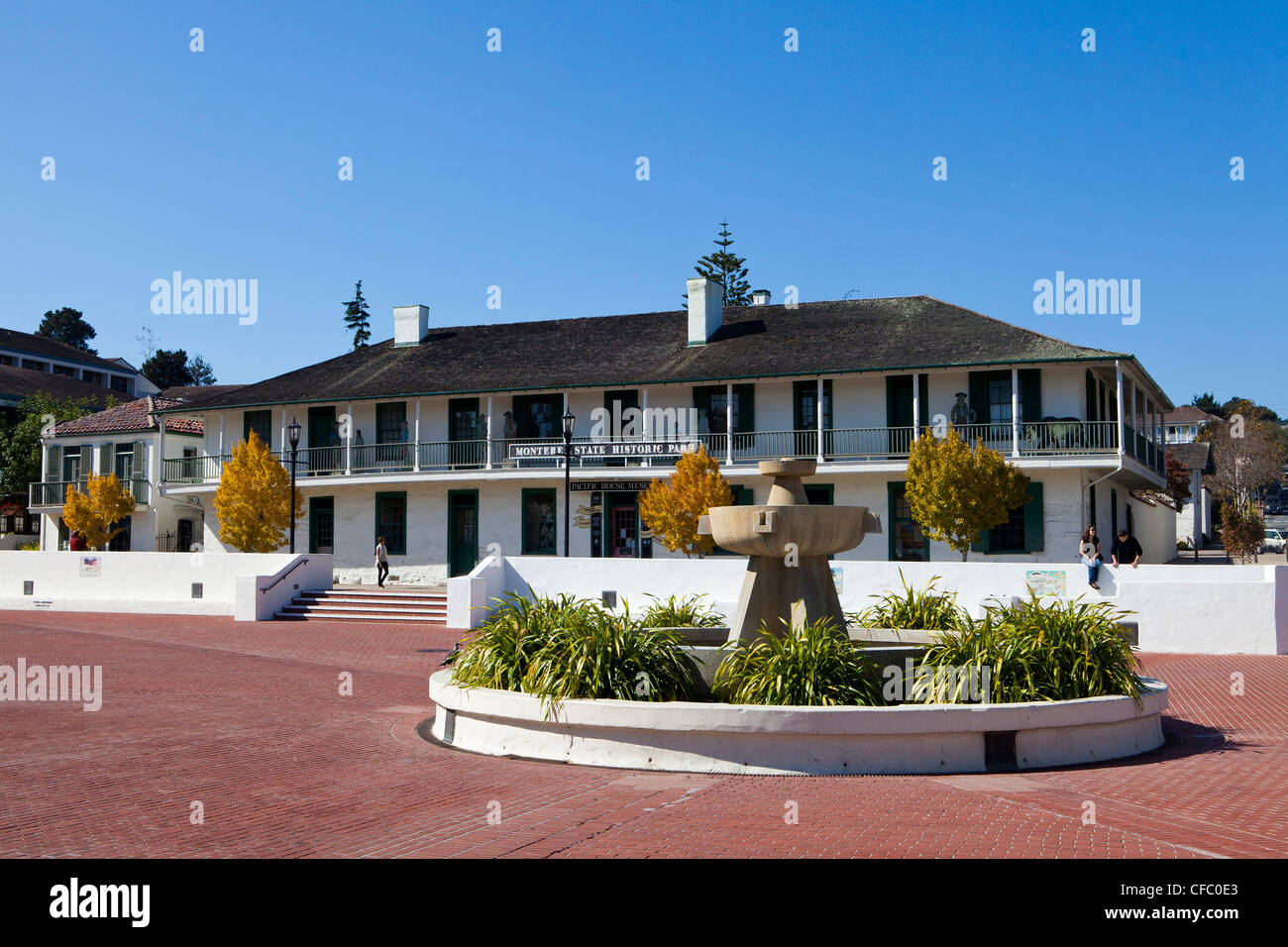 USA, United States, America, California, Monterey, City, Monterey, State, Historic Park, Pacific House Museum, administration, - Stock Image