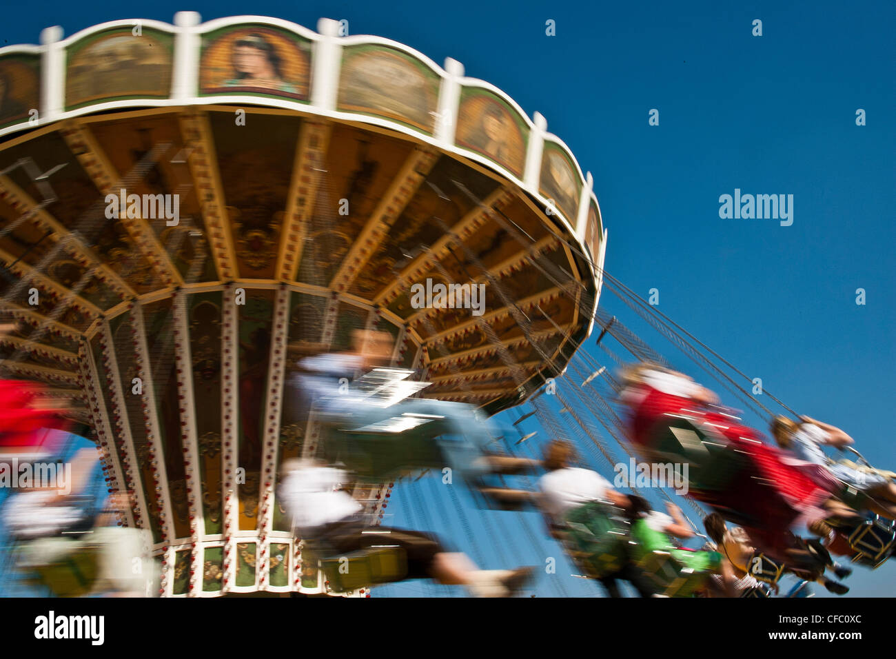 Old Wiesn, Bavaria, Germany, Europe, beer festival, October, tradition, party, festival, joy, speed, swiftness, - Stock Image