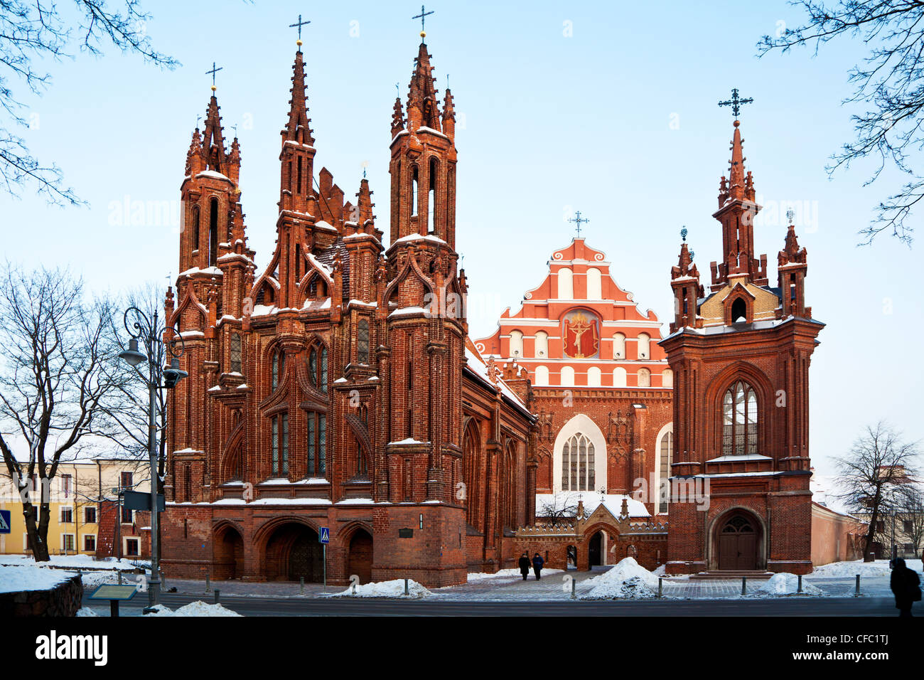 The Church of St. Anne's and the Bernardine Church, Vilnius, Lithuania - Stock Image