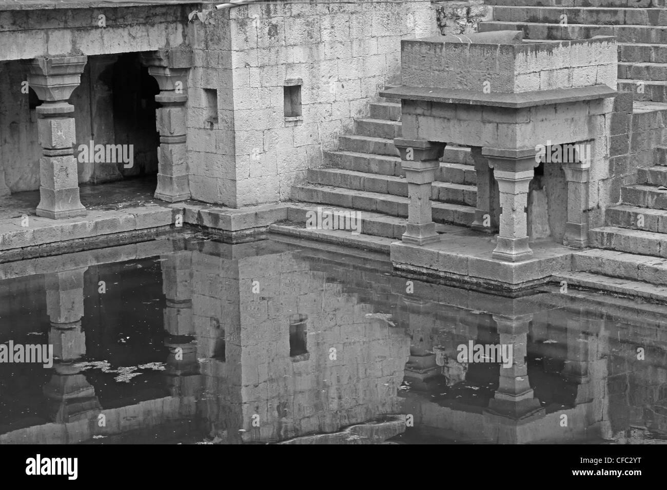 The Holy, Ancient Lord Shiva Temple, Siddheshwar Temple, Rajgurunagar, Khed, Maharashtra, India - Stock Image