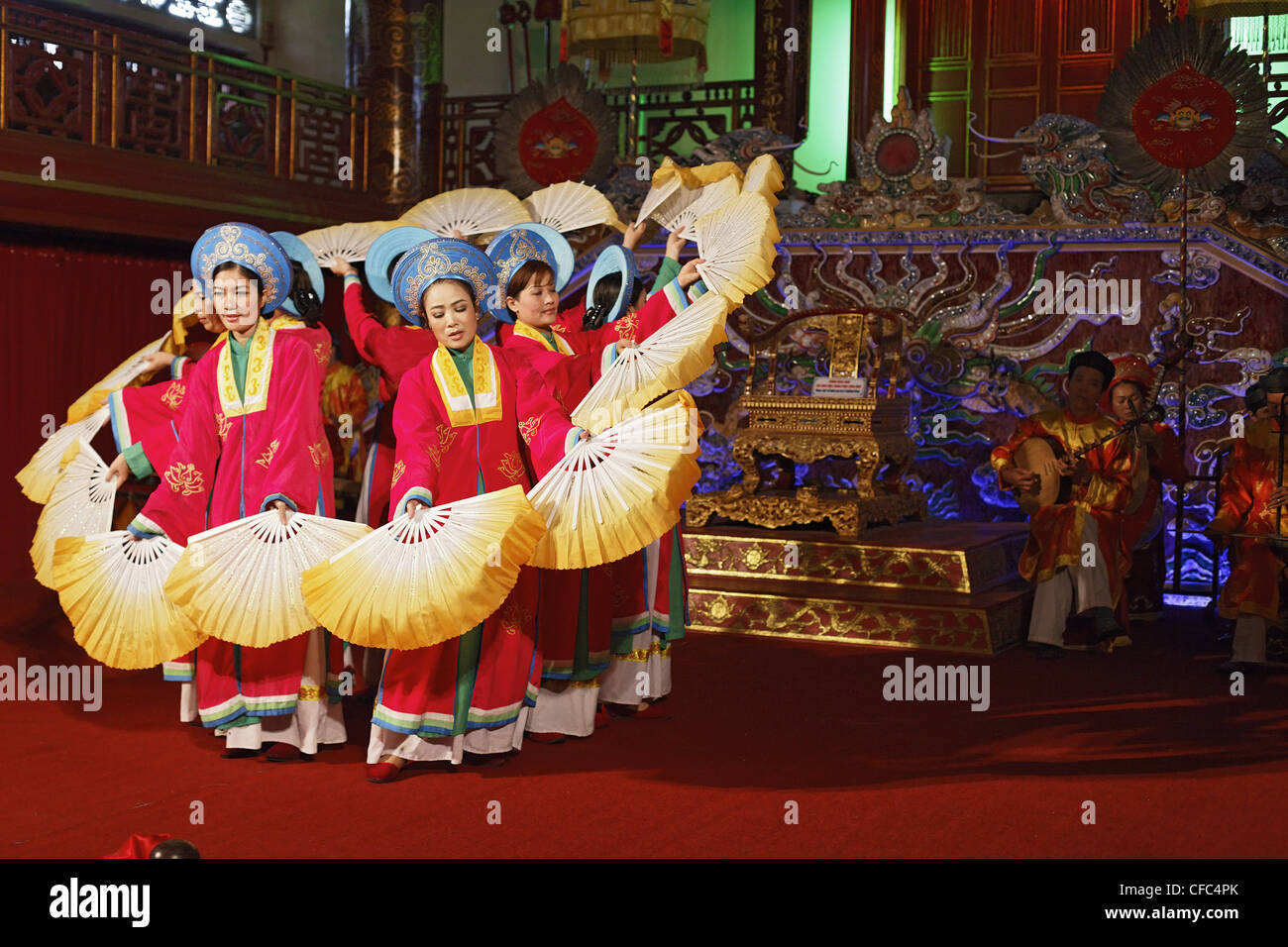Theater play, Imperial Theater, Citadel, Imperial City, Hue, Trung Bo, Vietnam Stock Photo