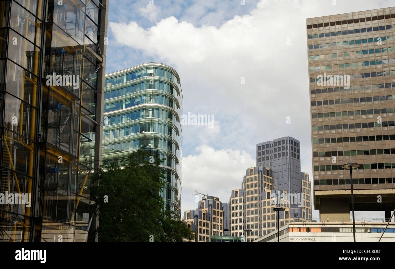 London Wall, London, EC2, England. - Stock Image